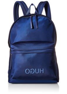 HUGO by Hugo Boss Men's Record Hugo Logo Nylon Backpack dark blue ONE SIZE