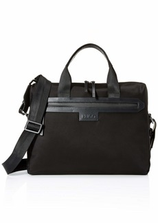 HUGO by Hugo Boss Men's Stone Nylon Document Briefcase black