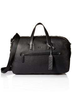 HUGO by Hugo Boss Men's Victorian Leather Weekender Bag black