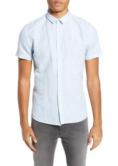 Hugo Boss HUGO Empson Slim Fit Linen & Cotton Woven Shirt
