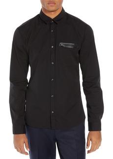 Hugo Boss HUGO Ero Extra Slim Fit Zip Pocket Sport Shirt