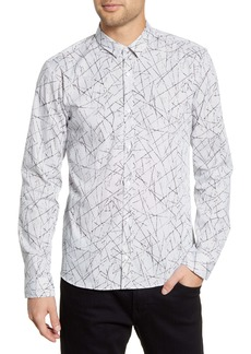 Hugo Boss HUGO Ero3-W Slim Fit Print Button-Up Shirt