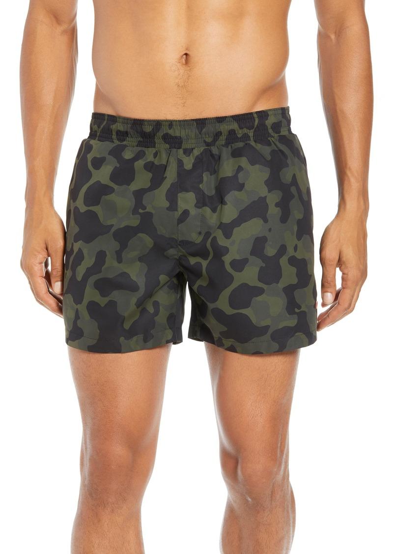 6c4252454e Hugo Boss HUGO Grenada Regular Fit Camo Print Swim Shorts Now $52.80