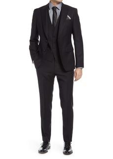 Hugo Boss BOSS Helward/Genius Slim Fit Three Piece Solid Wool Suit