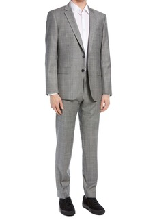 Hugo Boss BOSS Huge/Genius Slim Fit Glen Plaid Wool Blend Suit