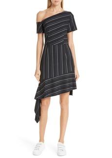 Hugo Boss HUGO Kaloras Asymmetrical Pinstripe Dress