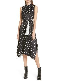 Hugo Boss HUGO Kamali Polka Dot Sleeveless Dress