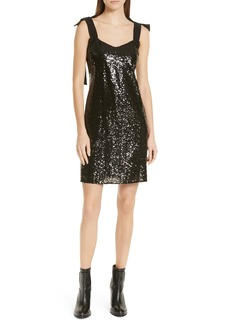 Hugo Boss HUGO Kistella Sequin A-Line Dress