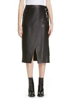 Hugo Boss HUGO Lavesi Leather Wrap Skirt
