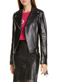 Hugo Boss HUGO Lemira Fringe Leather Jacket