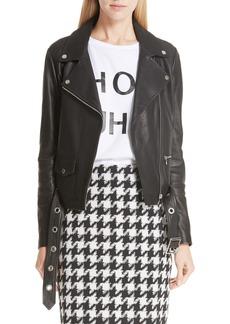 Hugo Boss HUGO Limari Leather Jacket