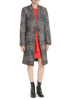 Hugo Boss HUGO Magrete Bold Check Stretch Cotton Wool Coat