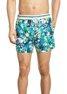 Hugo Boss BOSS Mandarin Fish Print Swim Trunks