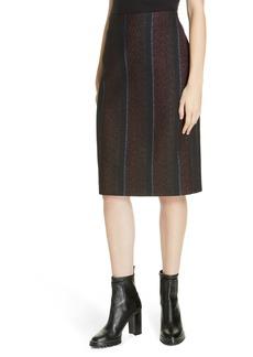 Hugo Boss HUGO Riami Metallic Stripe Skirt