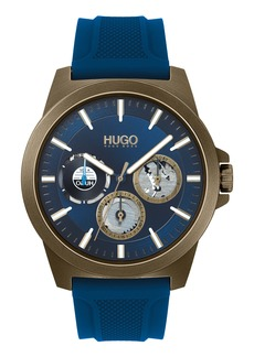 Hugo Boss HUGO Twist Multifunction Silicone Strap Watch, 44mm