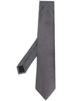 Hugo Boss jacquard geometric pattern tie