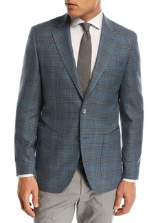 Hugo Boss Janson Plaid Wool Sport Coat