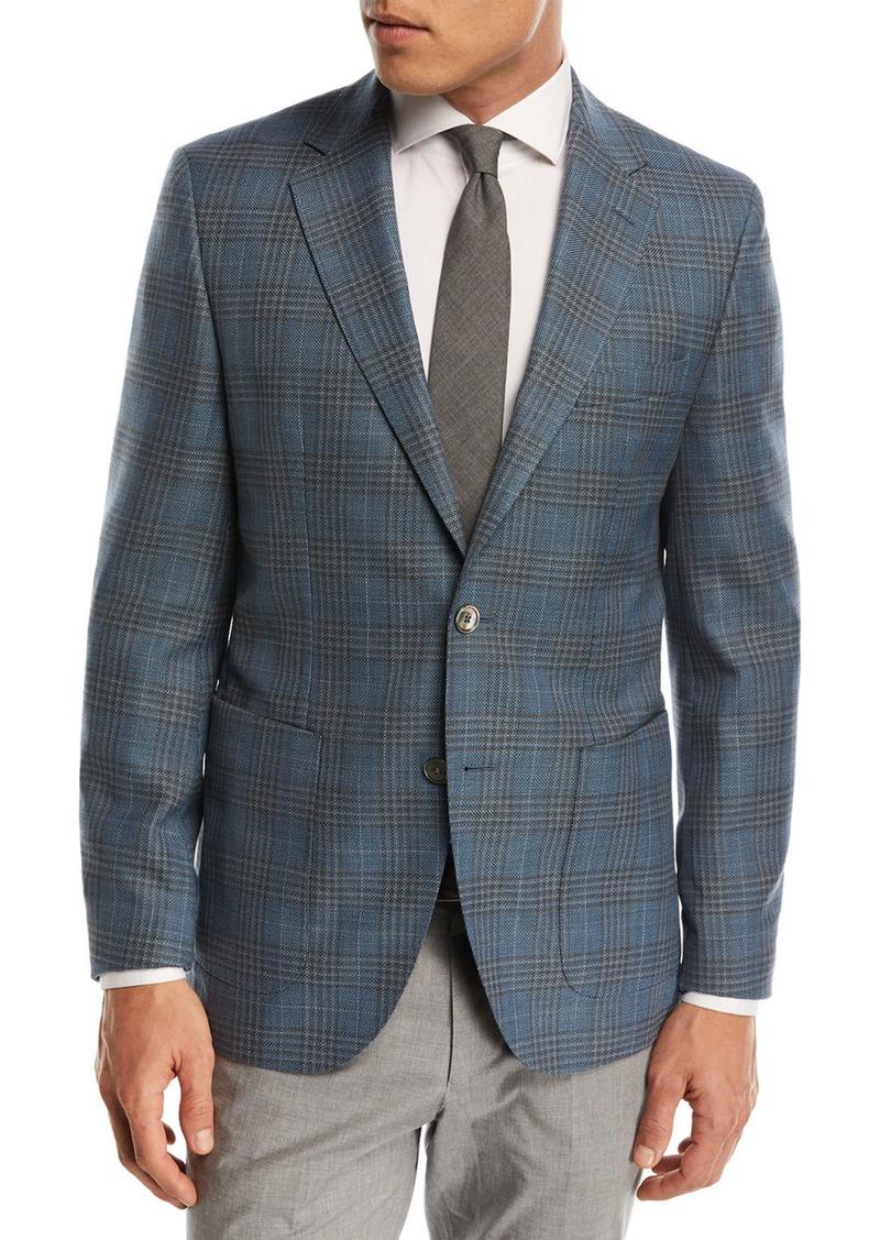 37f68373e Hugo Boss Janson Plaid Wool Sport Coat | Sportcoats Blazers