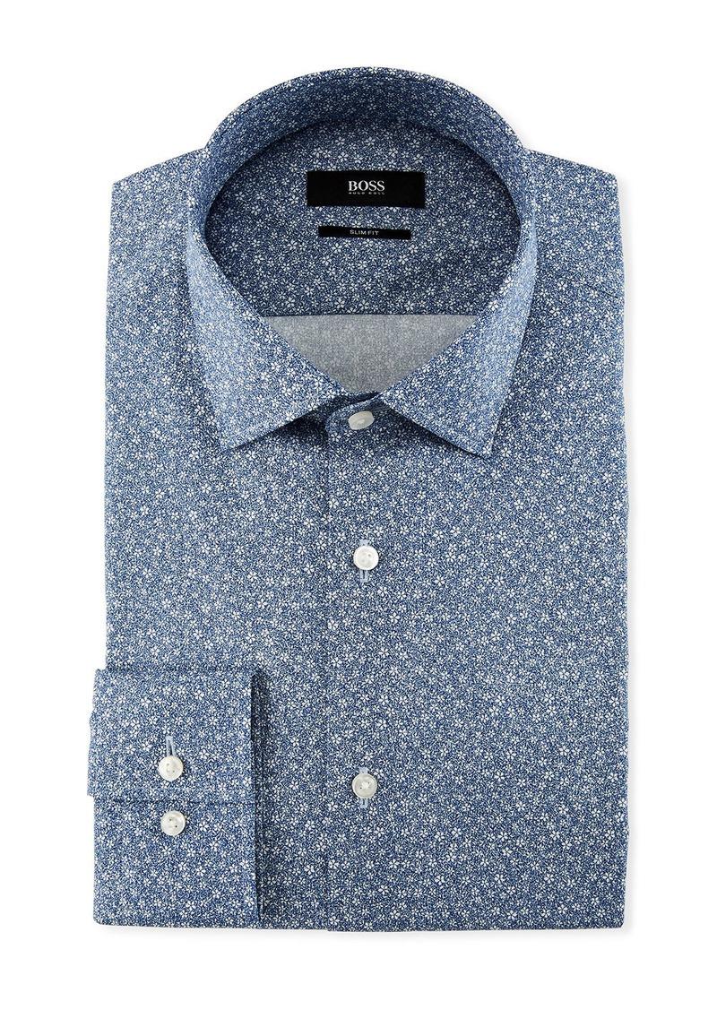 c5aa4b3d2 SALE! Hugo Boss Jenno Floral-Print Slim-Fit Dress Shirt