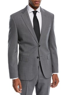 Hugo Boss Jets Lenon Solid Wool Two-Piece Travel Suit
