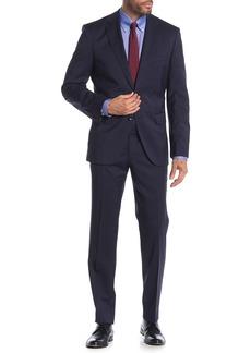 Hugo Boss Johnston Lenon Dark Blue Solid Two Button Notch Lapel Virgin Wool Regular Fit Suit
