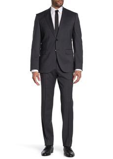 Hugo Boss Johnston Lenon Dark Grey Solid Two Button Notch Lapel Virgin Wool Regular Fit Suit