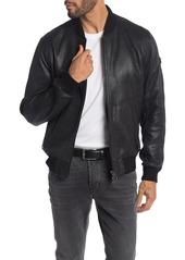 Hugo Boss Josiah Lamb Leather Bomber Jacket