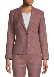 Hugo Boss Kalenka Graphic Cotton Blend Jacket