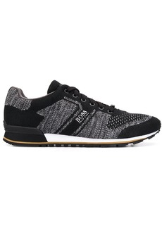 Hugo Boss knitted lace-up sneakers