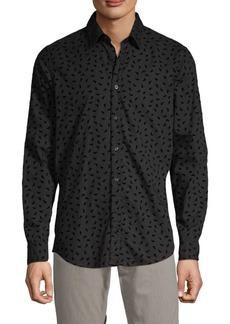 Hugo Boss Leandro Print Button-Down Shirt