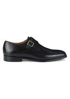 Hugo Boss Leather Monk Strap Shoes