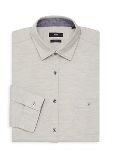 Hugo Boss Lionel Slim Fit Space-Dyed Dress Shirt