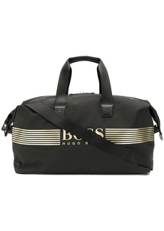 Hugo Boss logo-appliquéd duffle bag