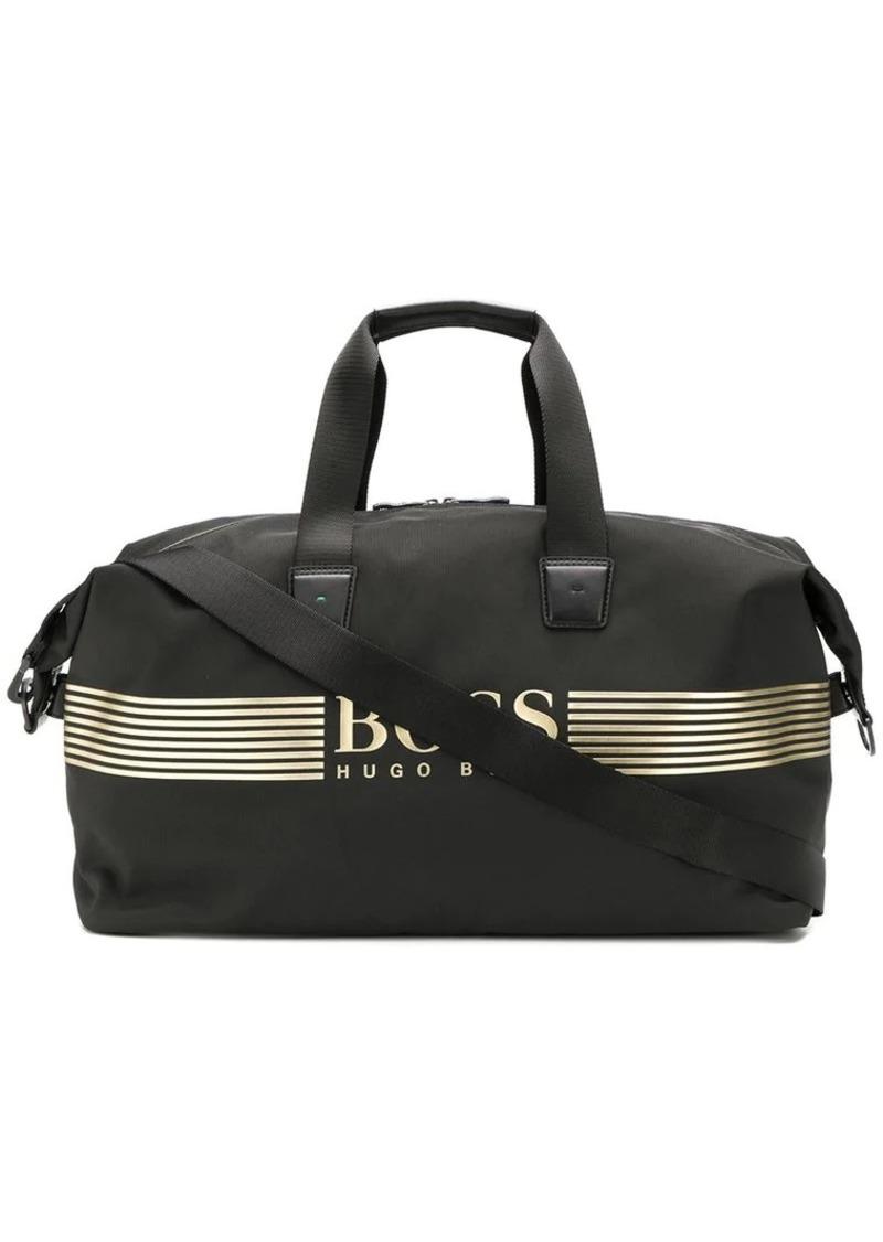 Hugo Boss logo-appliquéd duffle bag