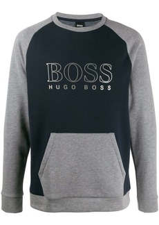 Hugo Boss logo colour block sweatshirt