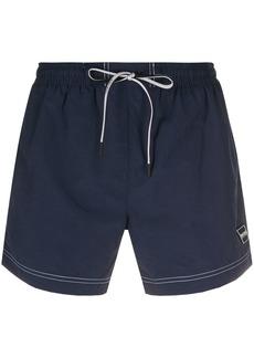 Hugo Boss logo embroidered swimming trunks