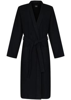 Hugo Boss logo-jacquard waffle robe