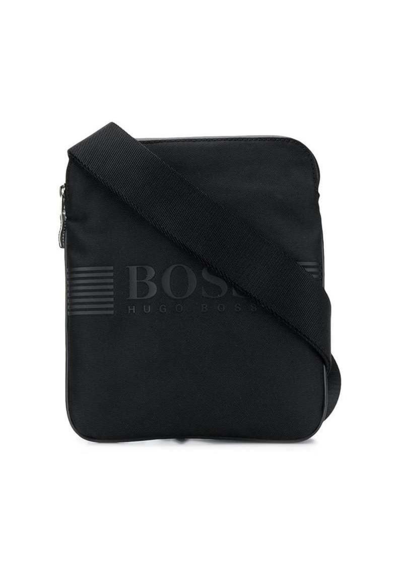 Hugo Boss logo messenger bag