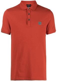 Hugo Boss logo patch cotton polo shirt