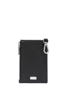 Hugo Boss logo-plaque leather cardholder