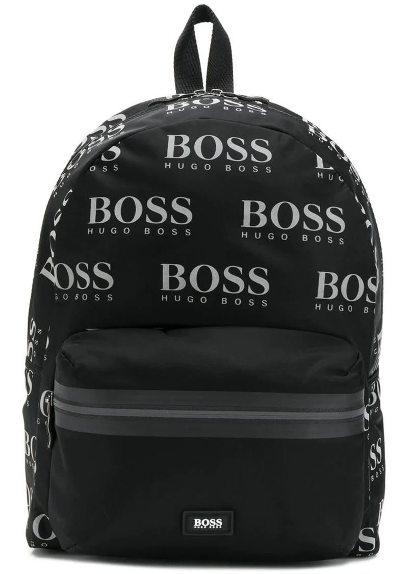 Hugo Boss logo print backpack