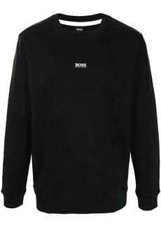 Hugo Boss logo-print rib-trimmed sweatshirt