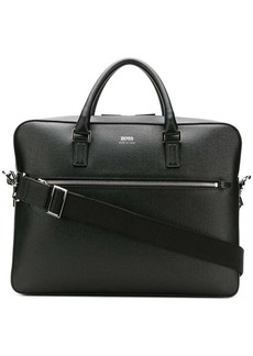 Hugo Boss logo print laptop bag