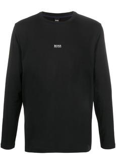 Hugo Boss logo print longsleeved T-shirt