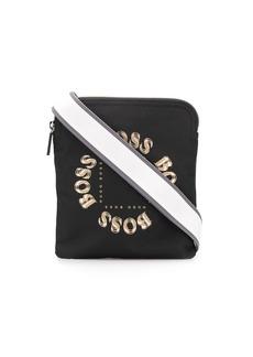 Hugo Boss logo print messenger bag