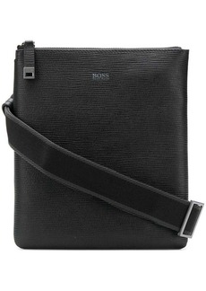 Hugo Boss logo print messenger bag