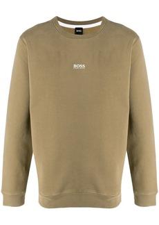 Hugo Boss logo print relaxed-fit sweatshirt