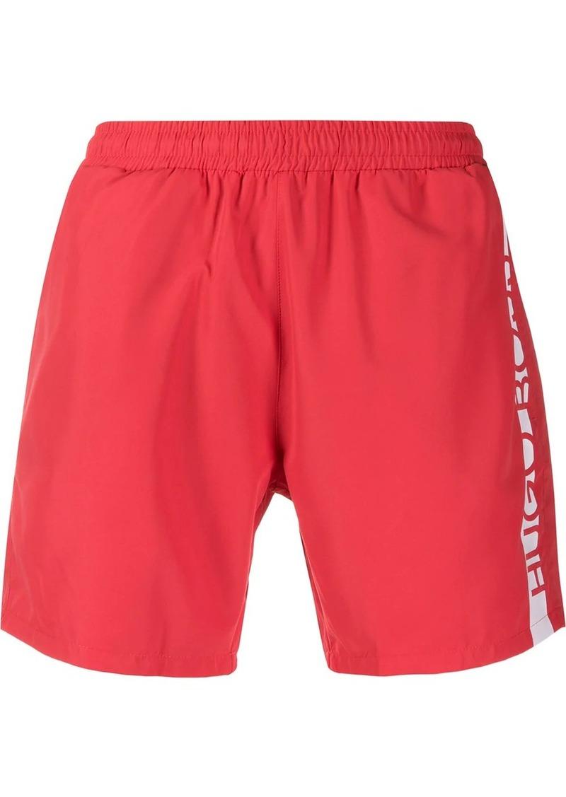 Hugo Boss logo print swim shorts