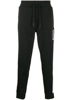 Hugo Boss logo print track pants