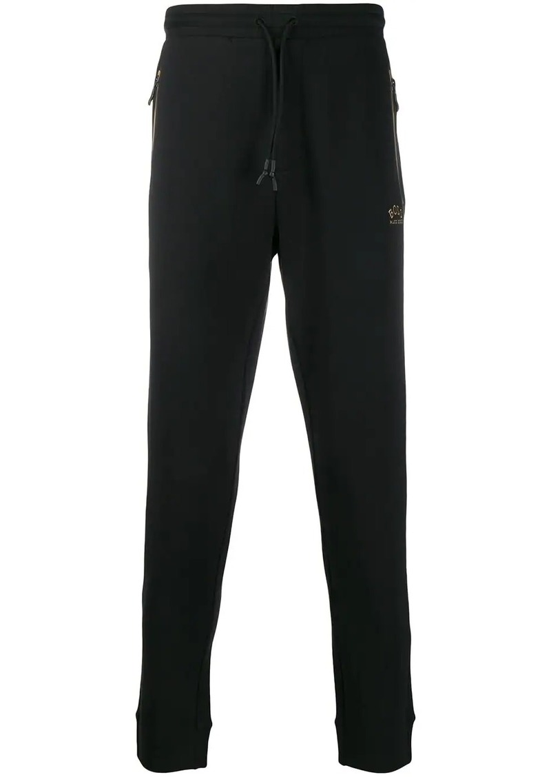 Hugo Boss logo print track pants